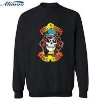 Alimoo Rockmusik Guns N Rosen Fashion Männer Sweatshirt Schwarz/Marineblau Mens Hoodies und Sweatshirts Hip Hop in XXS-4XL