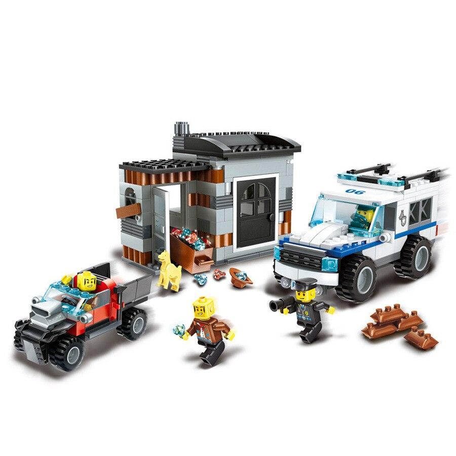 Garçons et filles bricolage Super véhicules de Police bloc jouets de construction jouet éducatif