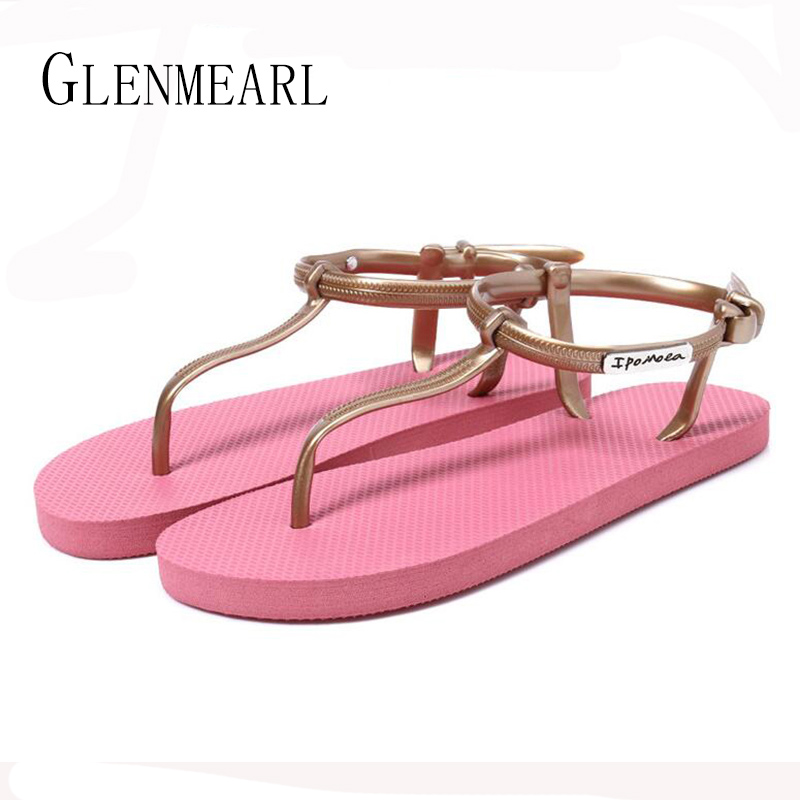 2017 Summer Fashion Roman Women's Flats Sandals Shoes Bohem Female Slides Flip Flops Beach Sandals Flat Slippers For Women  XP15 fashion women slippers flip flops summer beach shoes slides lady flats sandals casual shoes plus size 36 42 white black coffee