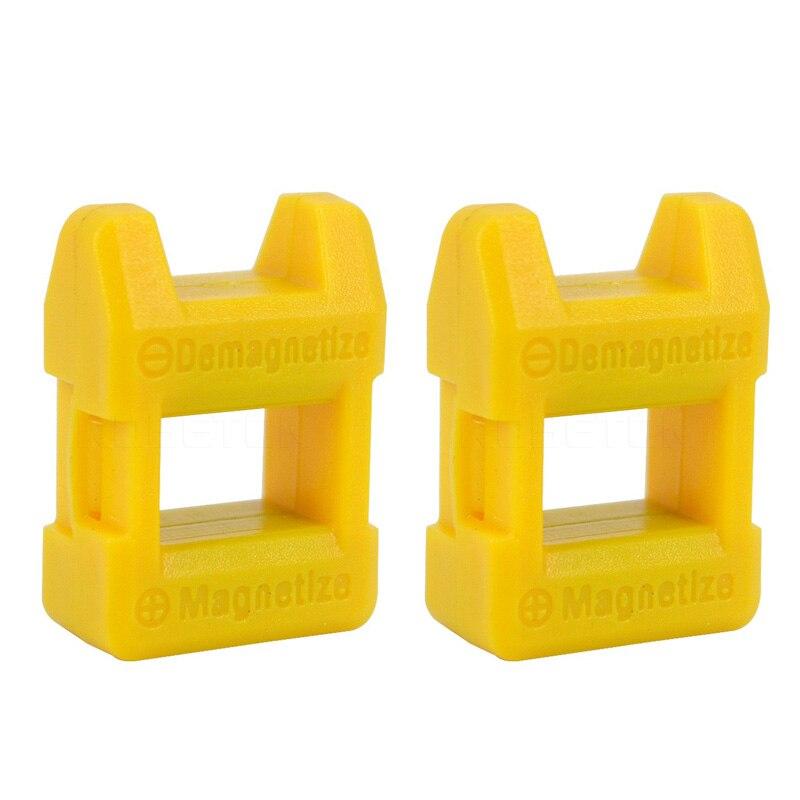 2PCS Precision Bit Demagnetizer Magnetizer Tool for Screwdrivers Screws Drill Bits Sockets Nuts Bolts Nails Construction Tools