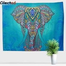 Cilected Dunkelgrn Elefanten Tapisserie Mandala Stoff Decke Wandbehnge Hippie Decor Wand Cltoh Wandteppiche Indien Strandtcher