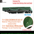 "Canopy for Large size Swing chair and bed, Replacement Canopy -Dark Green 90.55""x53.15""/230X135cm"