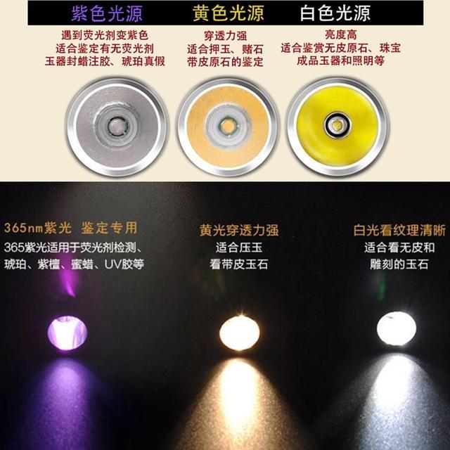 AloneFire SV320 Portable Mini Jewelry jade glare 365nm LED flashlight jade flash light lighting stone detection 6