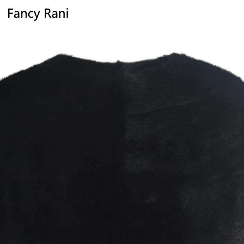 Manteau Peau Haute Sans Manches Gilet Naturel Femmes Réel Mode 2018 Luxe Long Qualité La De Nouveau Noir Fourrure Vison Toute vqBZWgYw47
