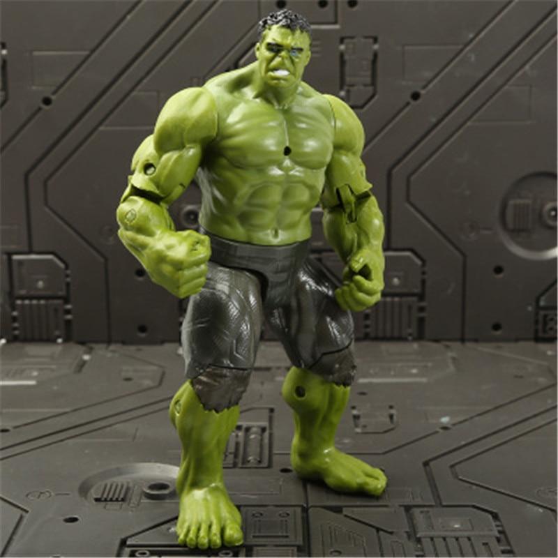Marvel Мстители 3 Бесконечность войны фильм Аниме Супер Герои Капитан Америка, железный человек, Халк Тор супергерой Фигурки игрушки - Цвет: hulk