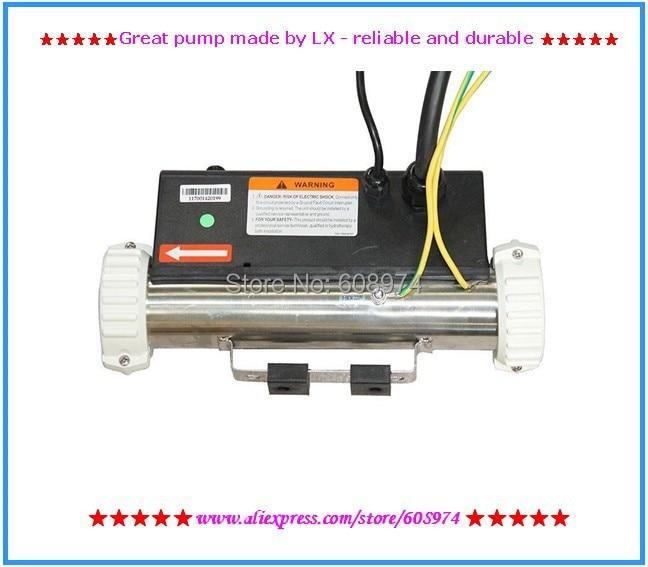 СПА Нагреватель 3kw 3000 Вт LX H30R1 H30-R1 Ванна нагреватель с коммутатором потока и фитинги