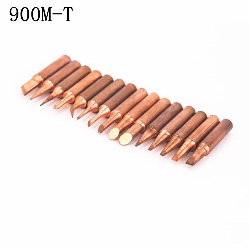 Купить с кэшбэком SZBFT 15pcs/lot Lead-free Red copper Pure copper Solder tip 900M-T For Hakko 936 FX-888D Saike 909D 852D+ 952D Diamagnetic DIY