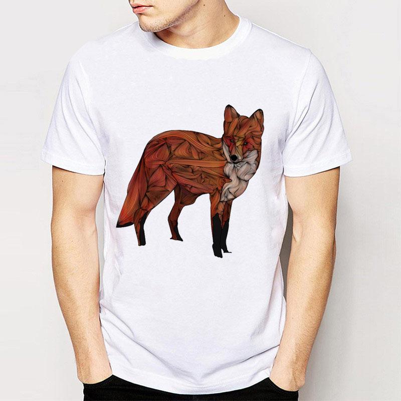2017 Gildan New Vintage Retro Cool Rock&Amp;Roll Punk Tees T Shirts Unique Creative Design Red Fox Funny Men/ Boy Top Tee