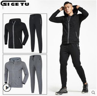 New Men's Sports Suits Basketball Jersey Running Sports Sets jogging Workout Gym winter jacket trousers Sportswear 2pcs