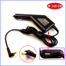 19V 3.42A Laptop Car DC Adapter Charger + USB(5V 2A) for Acer Extensa 4620 4630 5220 5420 5620 5630 5635 5300