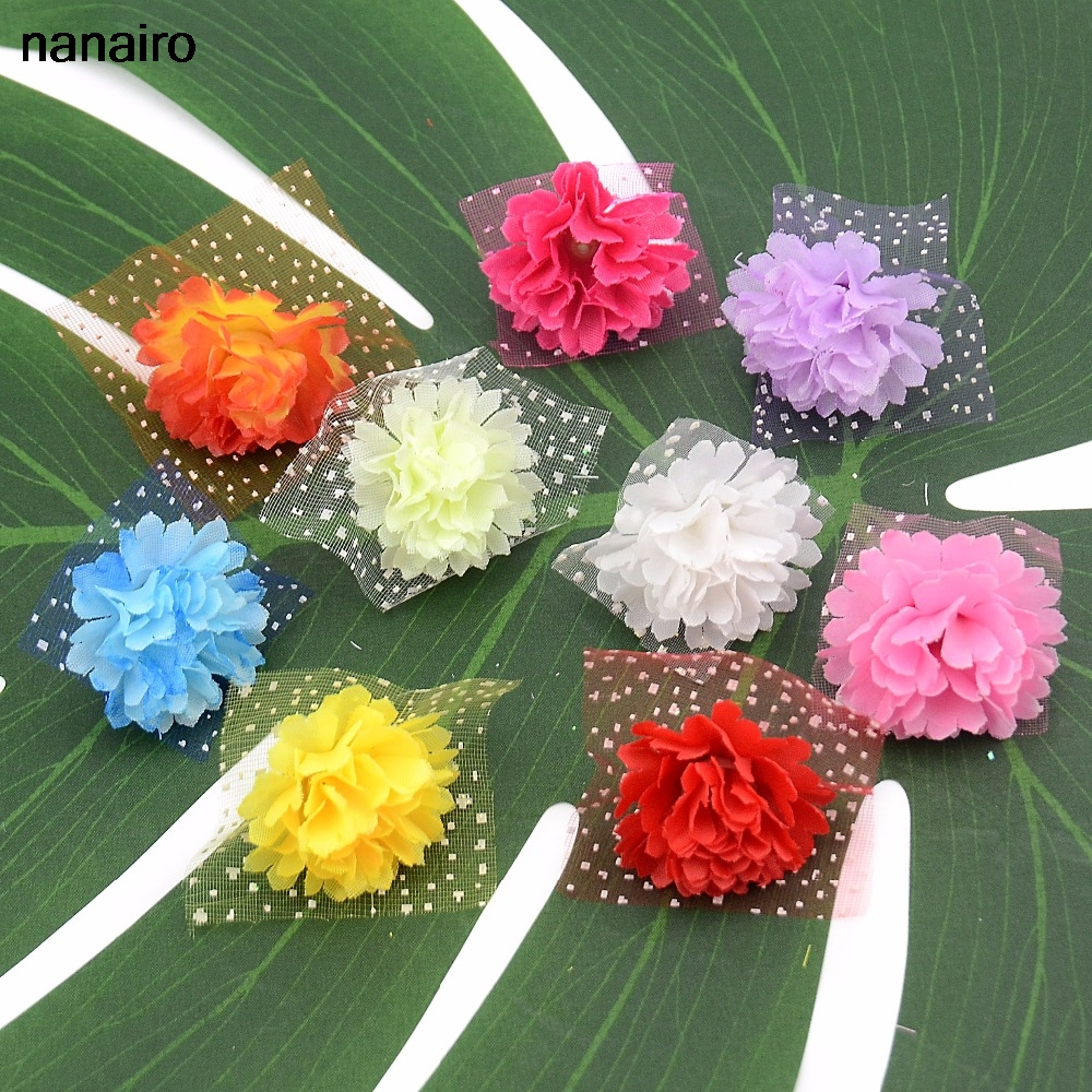 20pcs 3cm Wholesale Artificial Gerbera Daisy Silk Flowers Heads For