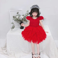 3 8 Years Baby Girl Clothing Dress Princess Party Lace Dresses Girls Dress Birthday Ball Gown Tutu Vestidos GDR652