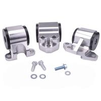 EG Silver Billet Aluminum Swap Engine Motor Mount Kit For Civic EH DC D15 D16 B16 B18