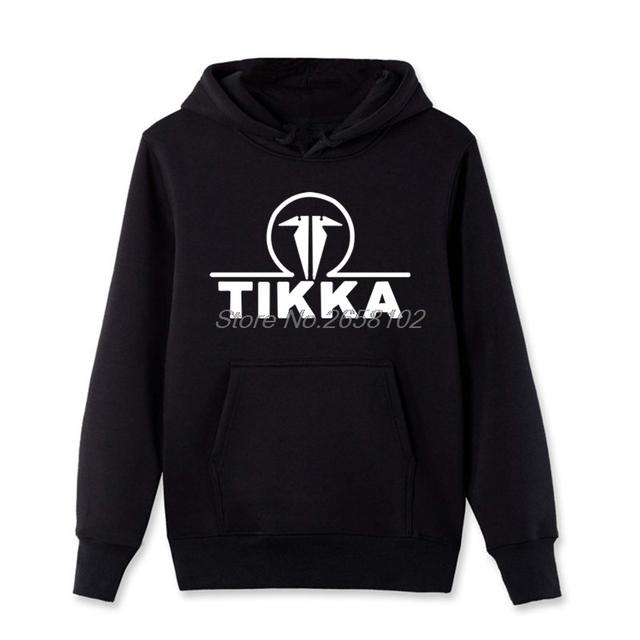 Hot Sale Fashion Men Cotton Hoodies New Tikka By Sako Finland Firearms Logo Men's Black Sweatshirt Harajuku jacket Tops