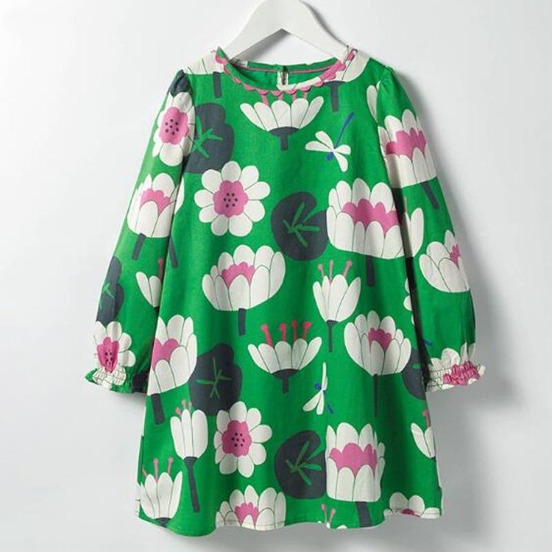 Mädchen Kleidung Wenig Maven 2018 Neue Sommer Baby Mädchen Kleidung Marke Kleid Kinder Baumwolle Blume Drucken Kurzarm Kleider Kleider