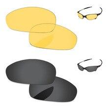 406edeaef Black Grey & Cristal Amarelo 2 Pares de Lentes de Reposição Para O Juliet  Sunglasses Quadro 100% UVA & Uvb