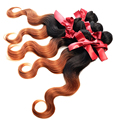 EVET Brazilian Ombre Body Wave Hair Weaves 1pcs Two Tone Brazilian Virgin Hair Unprocessed Human Hair Extensions Wefts 50g/pcs