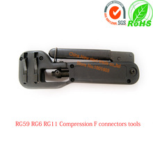 цена на RG59 RG6 RG11 f connector compression tool connector compression tool crimper for  rg6 rg59 rg11 cable connector Plier Tool