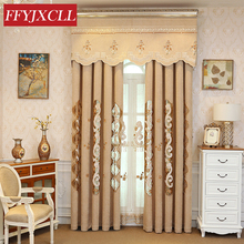 Custom Made Pastoral Europe Luxury Villa Valance Curtains For living Room Bedroom Window Embroidered Tulle Drapes
