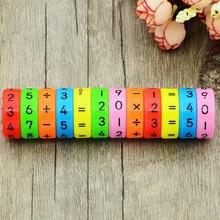 6 шт. магнитные Монтессори дети дошкольного образования пластиковые игрушки для детей математические цифры DIY головоломки для сборки мальчиков и девочек