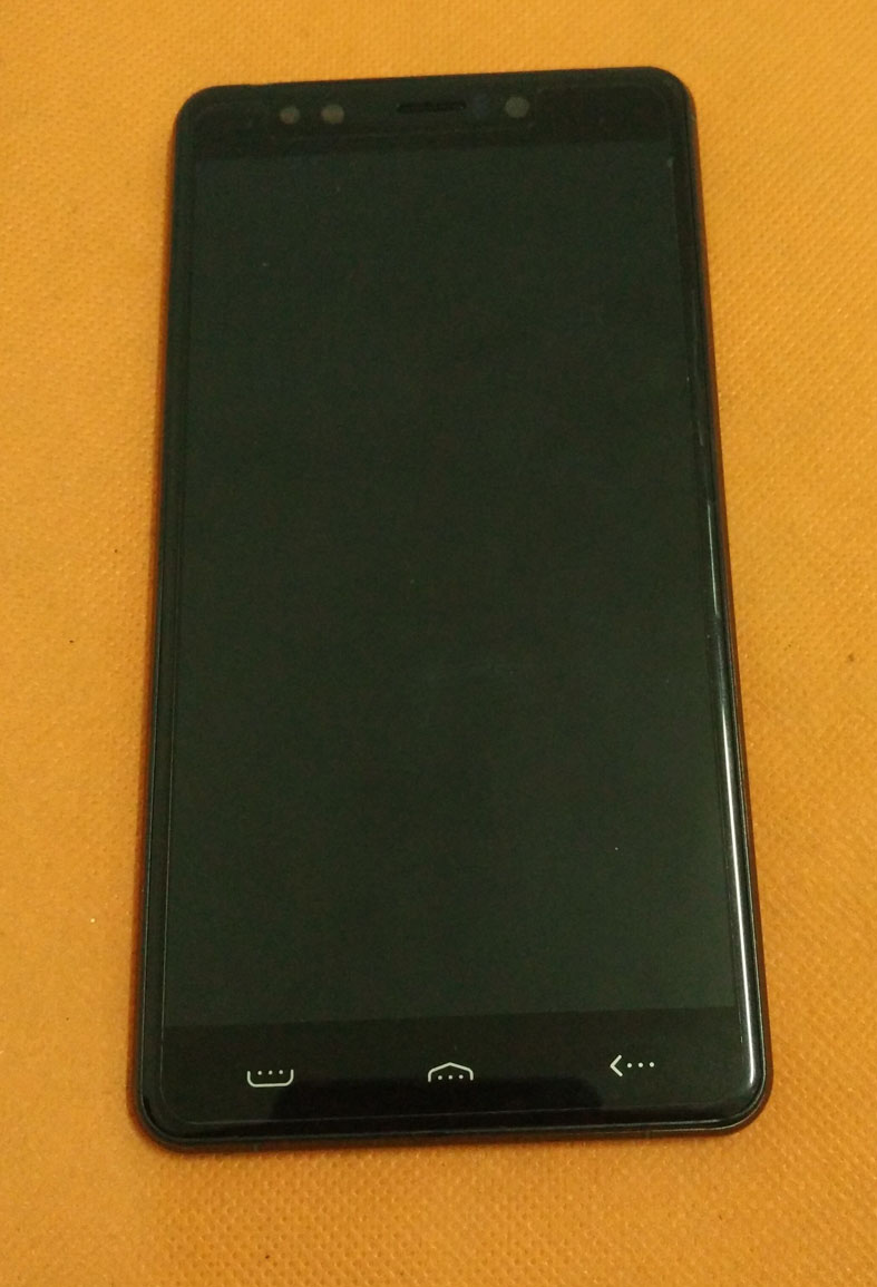 Used Original Front LCD Display Digitizer Touch Screen Frame for Homtom HT10 MT6797 Helio X20 Deca