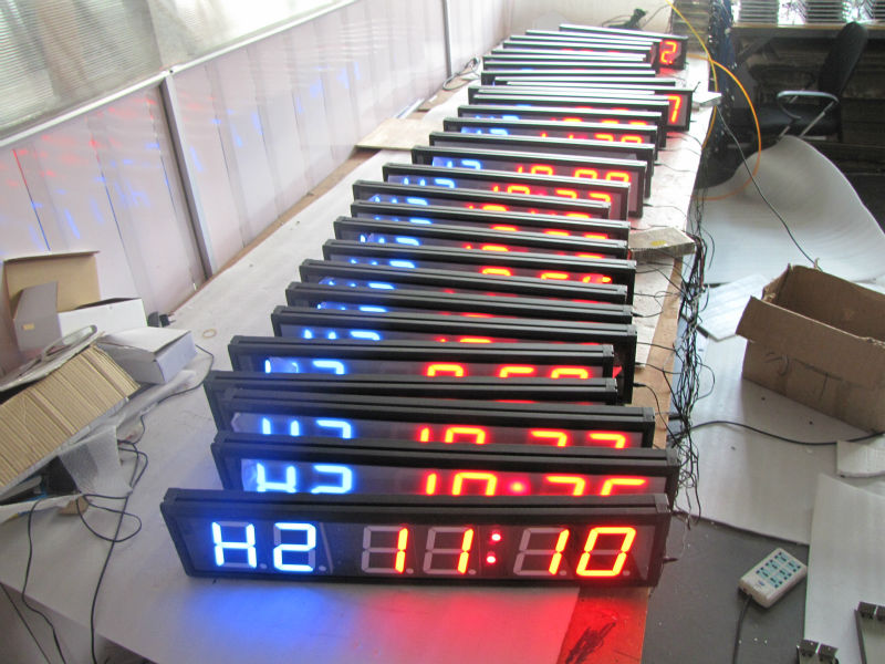 gym interval timer led moving message display led countdown timer in Alarm Clocks from Home Garden