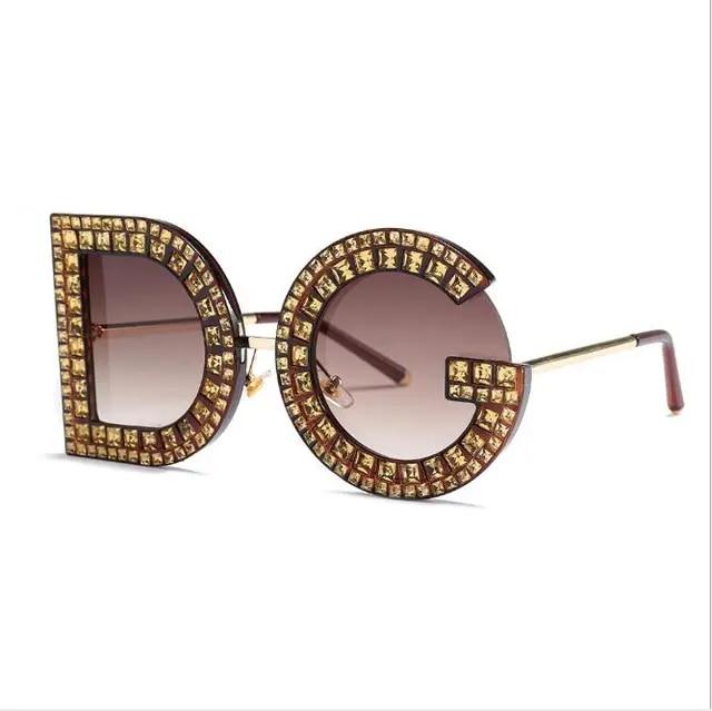 2019 charisma new DG rhinestone eyeglasses female sunglasses fashion trend net avant-garde 54099