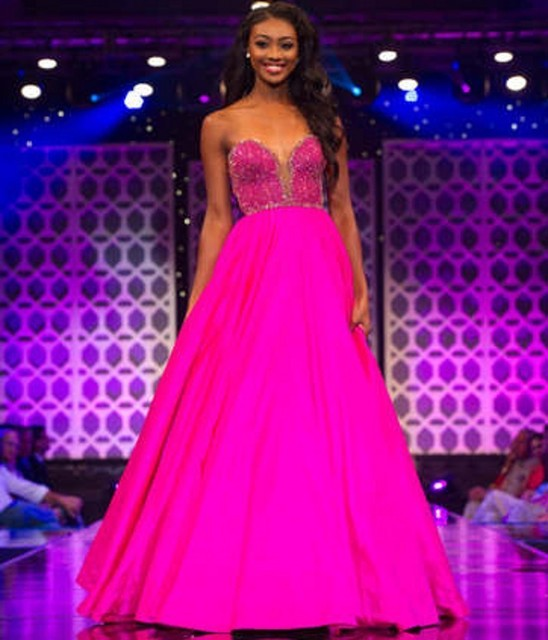 Nueva Moda de Miss Teen EE.UU. Una Línea Vestido de Fiesta Sexy ...