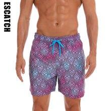 00ab58766b Short de bain court imprimé à séchage rapide pour homme avec doublure en  maille maillots de bain maillots de bain