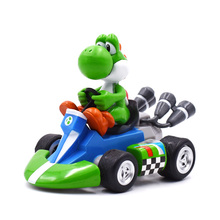 Super Mario Kart Pull Back Cars Green Yoshi Peach Cars Figure Toys For Kids Boys Birthday Gifts Racing Car Free Shipping