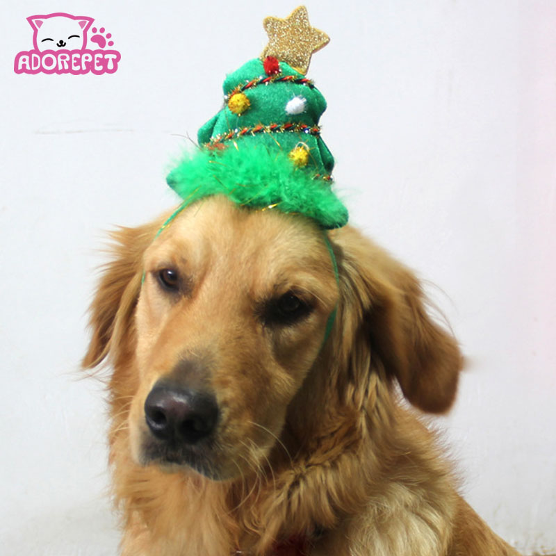 Cute Christmas Pet Small Dog Hats Cape Cat Puppy Grooming Hair Accessory Headwear Party Birthday Halloween Hat Costume In Caps From Home