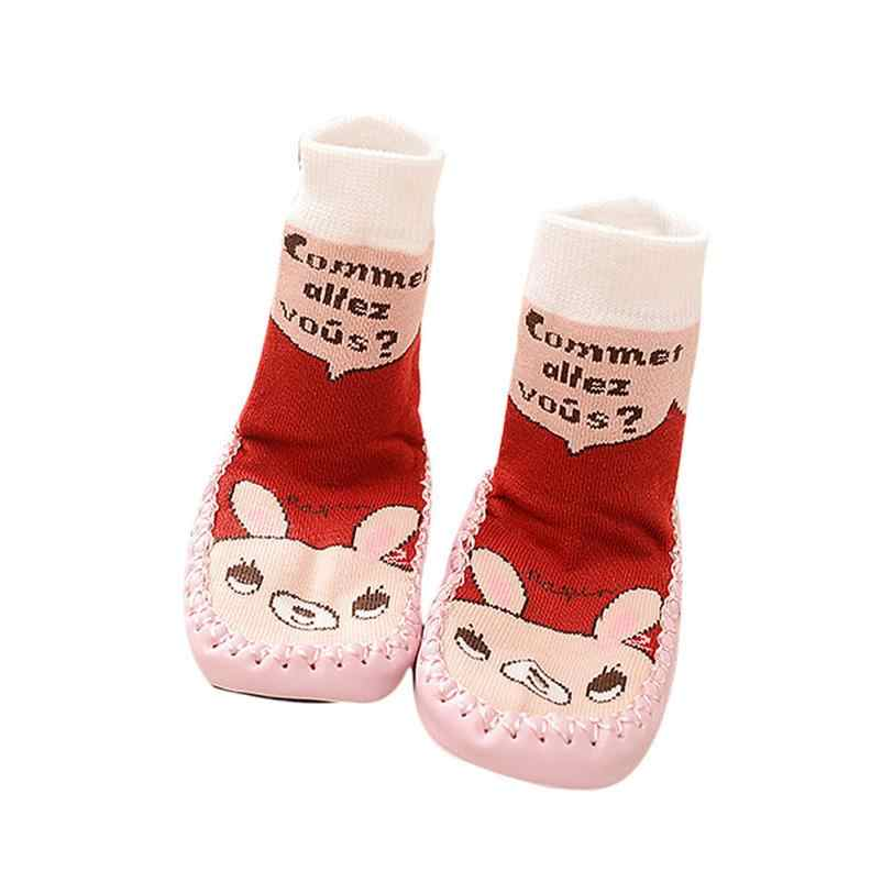 Unisex all season Cartoon Kids Toddler Baby Anti-slip Boots Sock Shoes Boots Socks botas infantil menina kids #