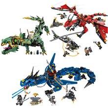 3 style Ninjagoes Movies Flame Spys Shadow Dragon Compatible LegoINGLYS Building Blocks Bricks Toys Christmas Gifts
