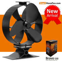 New Arrival 23% Fuel  Cost Saving Heat Powered Stove Fan Ecofan Wood Stove Fan Circulate Heat 300CFM