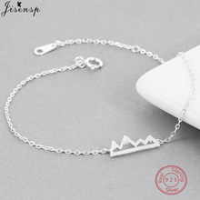 Jisensp 925 Sterling Silver Snow Mountain Bracelets & Bangles for Women Lady Unique Nature Inspired Bracelet Fashion Jewelry(China)