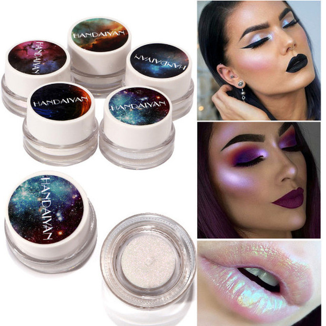 1PC Fashion Makeup Shine and Shimmer  Highlighter Rainbow Colors Illuminator Face Contouring Brightener Glow Kit