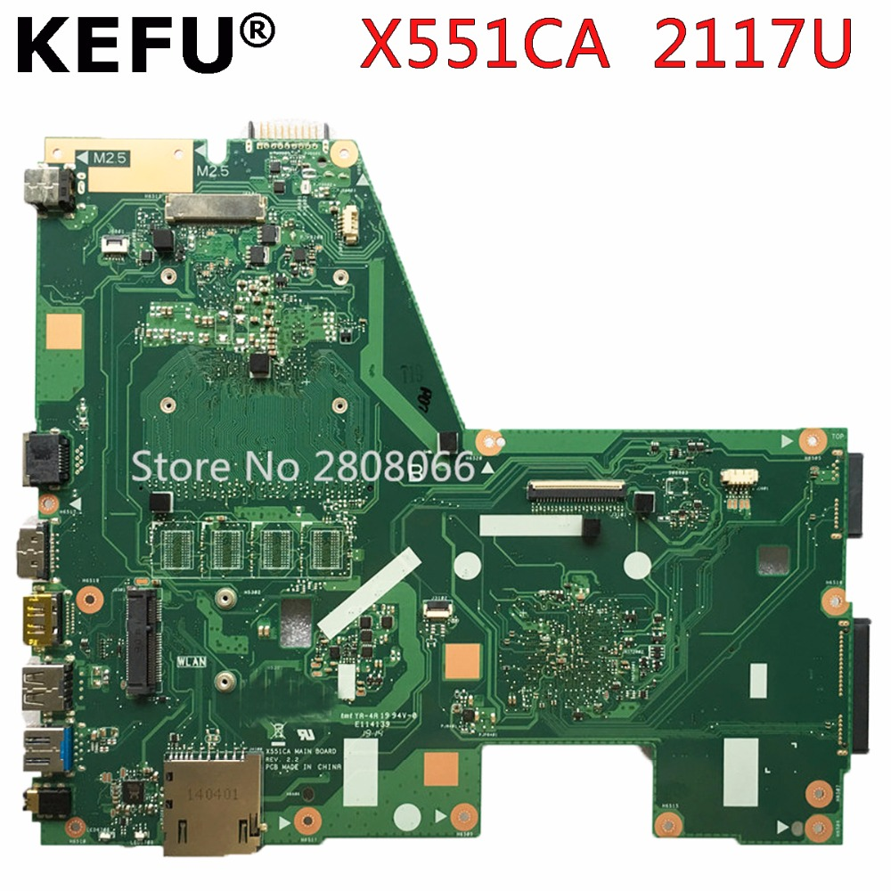 KEFU X551CA motherboard for ASUS X551CA Laptop motherboard X551CA mainboard REV2.2 2117U 100% tested 4GB RAM freeshipping asus p5kpl se desktop motherboard p31 socket lga for 775 core pentium celeron ddr2 4g atx uefi bios original used mainboard