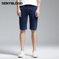 852586e26c8d Denyblood Jeans 2017 Summer Mens Stretch Knitted Denim Shorts Elastane  Waistband Short Jeans Darked Washed Casual