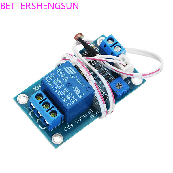 XH-M131 Photoresistor Module Brightness Automatic Control Module 5V 12V Photocontrol Relay Light Switch