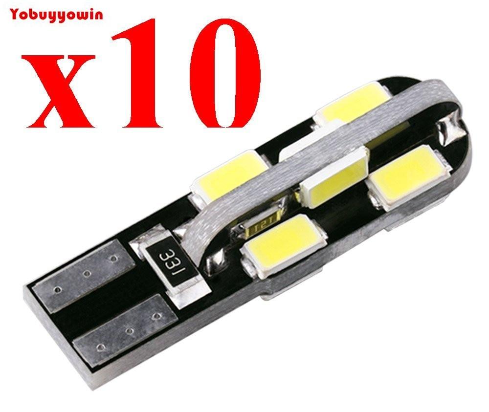 Lampada Pingo T10 W5w Leds Samsung 5730 Chip Canbus Canceller Branco