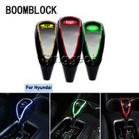 BOOMBLOCK Auto 5/6 Speed Gear Shift Knob Touch Sensor Color LED Light For Hyundai Solaris Tucson 2016 I30 IX35 I20 Accent Fe