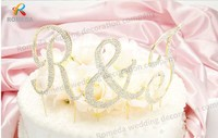 Free Shipping 1 Set Crystal Rhinestone Letter Birthday Wedding Cake Topper Custom Name Cake Decorations Personalized