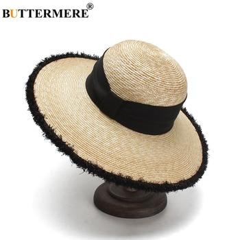 BUTTERMERE Women Sun Hats Beige Casual Straw Hat Female Wide Brim Anti-UV Ladies Summer Travel Sombreros Beach Caps Fashion 2018 1