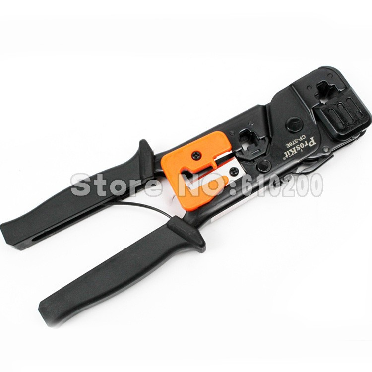 цена на Free shipping Pro'sKit Multifunctional Network Crimping Tools Cutting Pliers RJ45 RJ11 Low Carbon Steel Modular Crimping Tool