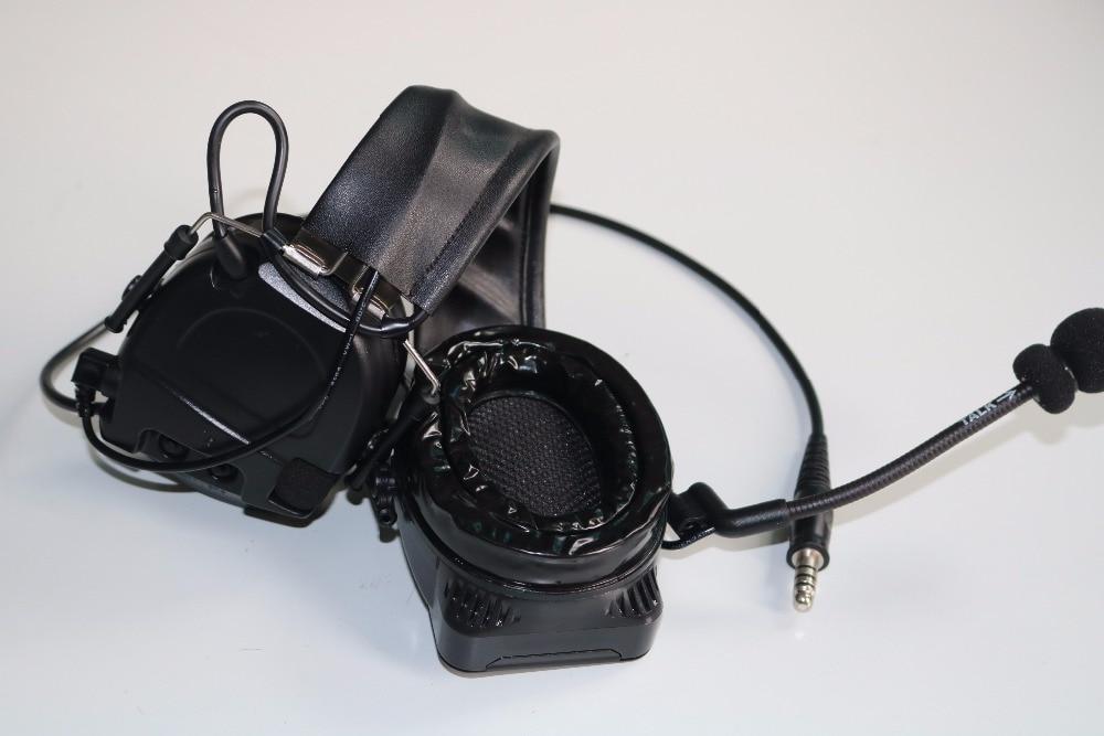 TAC-SKY COMTAC I Silicone earmuff version Noise reduction pickup headset -BK