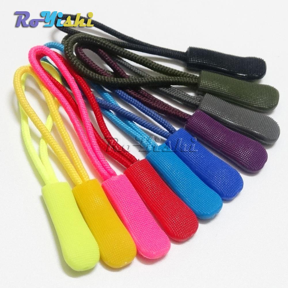 100 teile/paket Zipper Pull-schnur-verschluss/Zip Puller/Reißverschluss 10 Farben Vorhandenes Freies Verschiffen