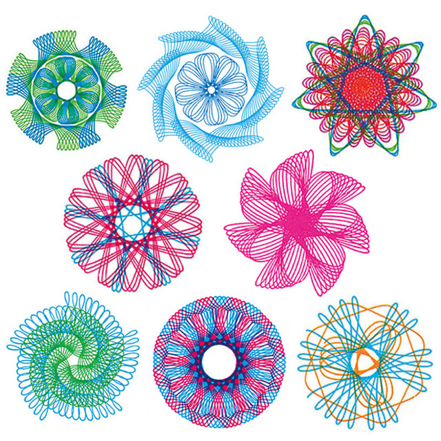 22pcs Spirograph Drawing toys set Interlocking Gears & Wheels Drawing Accessories Creative Educational Toy For children