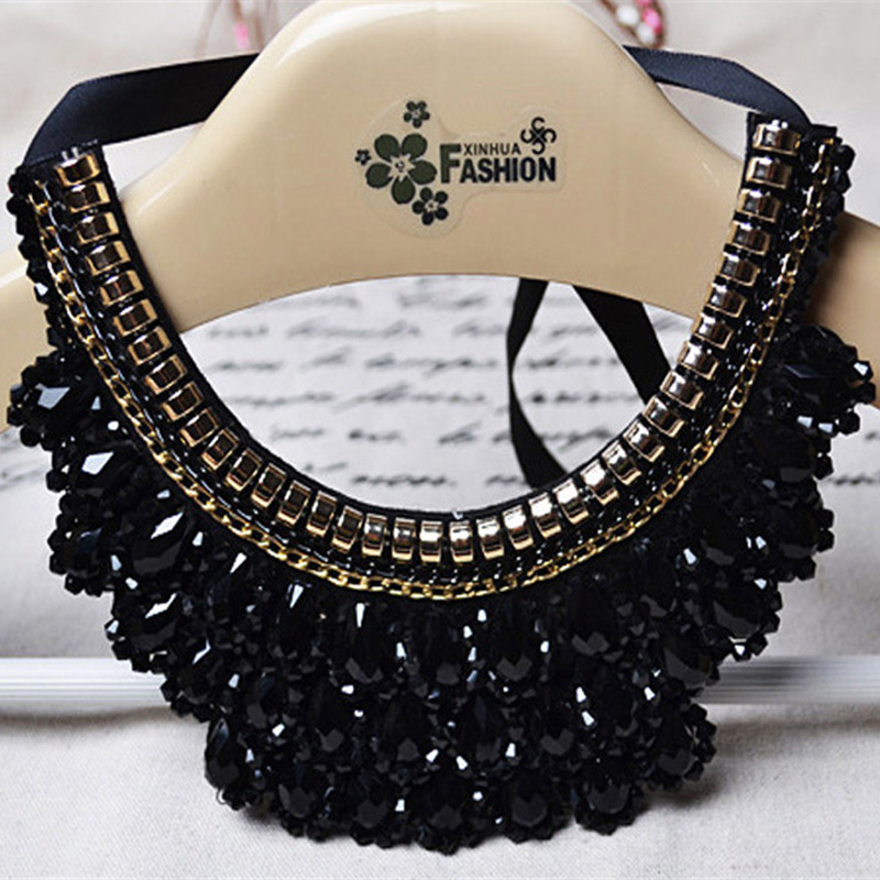 Korean Style Fake Collar White & Black Nep Kraagje Blouse Vintage Detachable Collar Jeans For Women Men Clothes Accessories