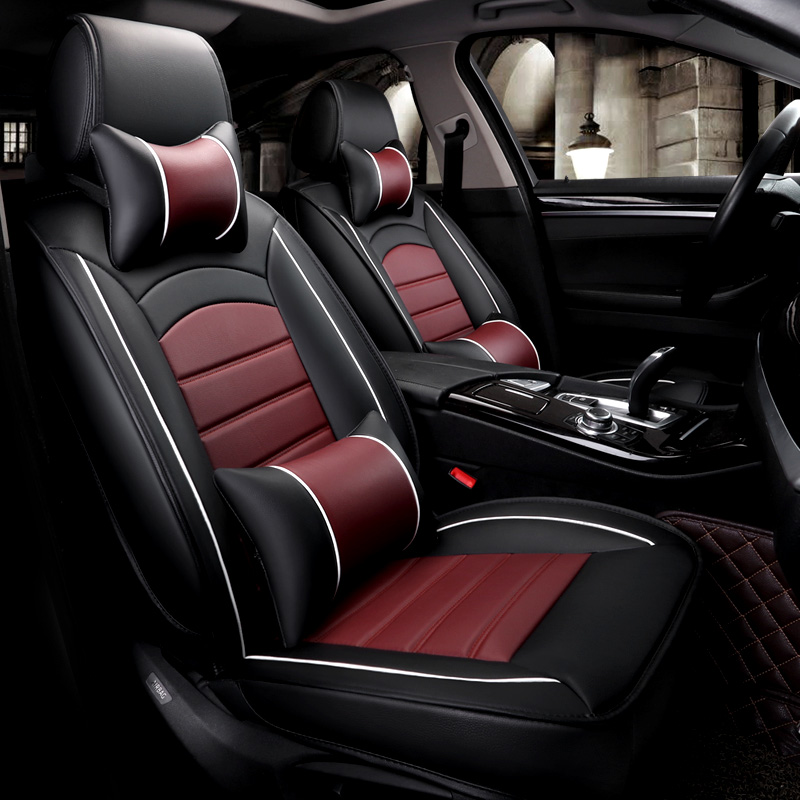 5 assentos/set assentos de carro de couro pu à prova d' água covers protector universal para mazda3 vw toyota almofadas auto acessórios interiores