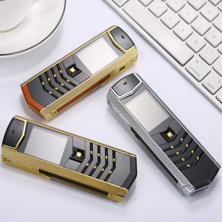 Russian keyboard button Luxury metal+leather housing original china gsm dual sim Cell Phones bluetooth mobile phone k9 LT2 phone